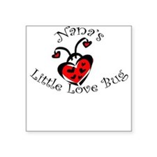 Nana's Love Bug Ladybug Square Sticker