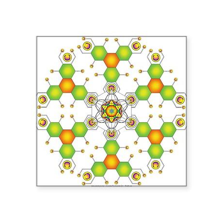 Cosmic Lotus Square Sticker