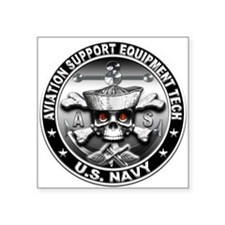 USN Aviation Support Equipmen Square Sticker