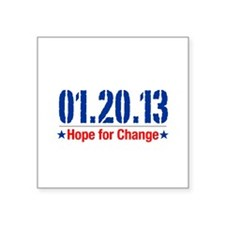 Hope For Change Men's Square Sticker