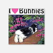 I love Bunnies Square Sticker