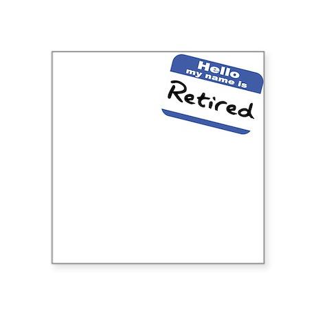 Retired Square Sticker