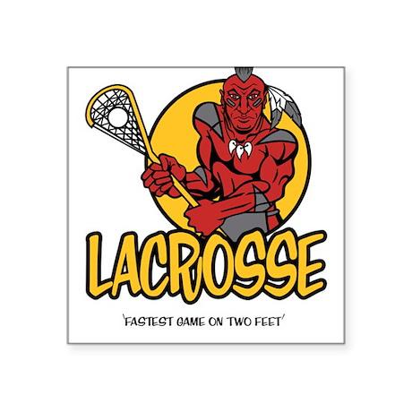 Lacrosse-Fastest Game Square Sticker