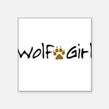 Wolf Girl Square Sticker