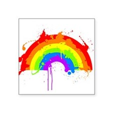 Rainbow Splatter'D Square Sticker