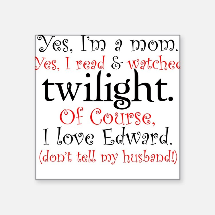 Twilight Moms 4 Square Sticker