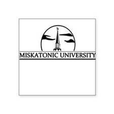 Miskatonic University Grey Square Sticker