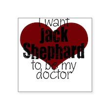 Doctor Shephard Square Sticker