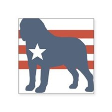 Patriotic Saint Bernard Square Sticker