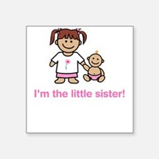 """I'm the little sister!"" (pink) Creeper Square Sti"