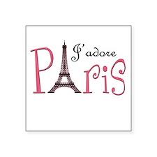 J'adore Paris! Square Sticker
