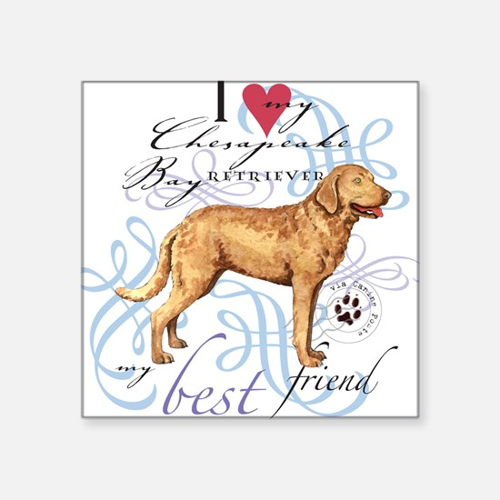 Chesapeake Bay Retriever Square Sticker