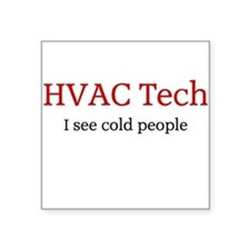 HVAC Square Sticker