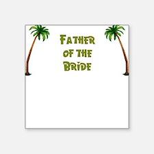 Tropical Father of the Bride Square Sticker