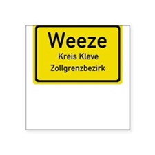 Weeze Sign Square Sticker