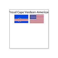Proud Cape Verdean American Square Sticker