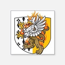 Flaming Gryphon Square Sticker