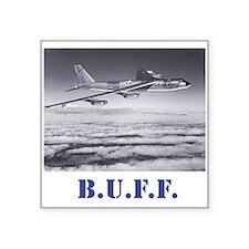 B-52 in flight: BUFF Square Sticker