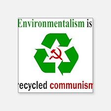 Anti Green Square Sticker