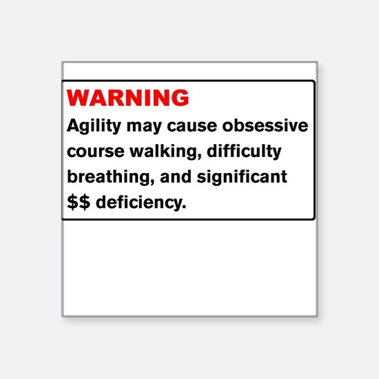 Agility Warning Square Sticker