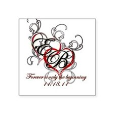 Twilight Breaking Dawn Square Sticker
