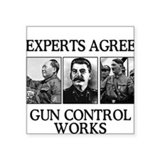 Gun Control Experts, Square Sticker