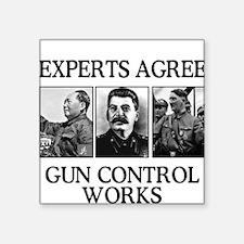 Gun Control Experts, Square Sticker