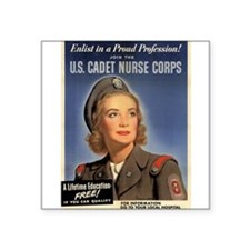 Wartime US Cadet Nurse Corps Square Sticker
