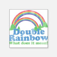 Double Rainbow Square Sticker