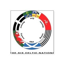 Celtic Nations Square Sticker