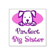 Pawfect Big Sister Square Sticker