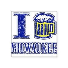 I BEER MILWAUKEE Square Sticker