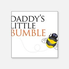 Daddy's Bumble Bee Square Sticker