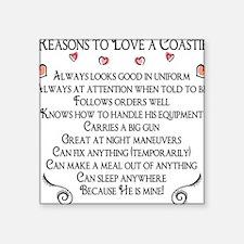 10 Reasons to love a Coastie Square Sticker