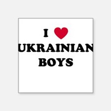 I Heart Boys Square Sticker