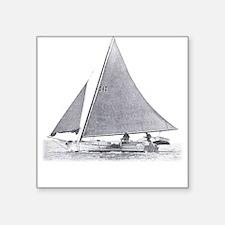 Chesapeake Bay Skipjack Square Sticker