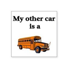 School Bus Driver Square Sticker