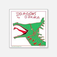 Dragons for Obama Square Sticker