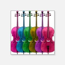 Colorful Cello Square Sticker