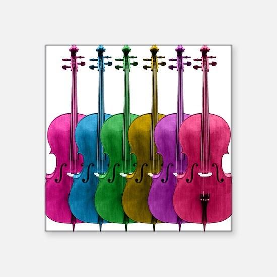 Colorful Cello Square Sticker