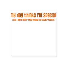 I'm Special (dog) Square Sticker