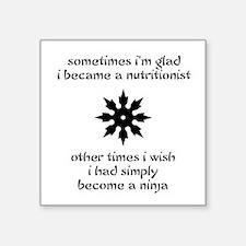 Ninja Nutritionist Square Sticker
