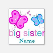 big sister butterfly custom Square Sticker