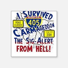 Carmageddon Square Sticker