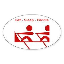 Eat - Sleep - Paddle Bumper Stickers