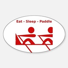 Eat - Sleep - Paddle Bumper Stickers