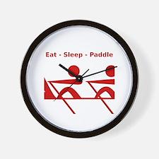 Eat - Sleep - Paddle Wall Clock