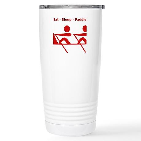 Eat - Sleep - Paddle Stainless Steel Travel Mug