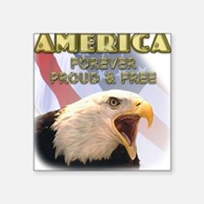 Patriotic American Eagle Square Sticker