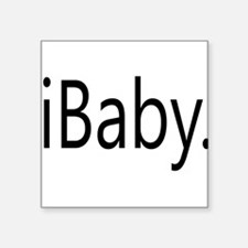 Funny Apple iBaby Square Sticker